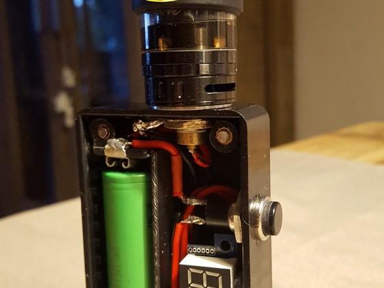 Selfmade Box-Mod ungeregelt mit MOSFET und Voltmeter