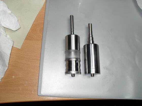 Mein neuer Verdampfer 32,5 mm im Vergleich....bis 25 ml Füllmenge