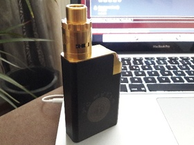 Tahiti Box von Mandaya Mods (Vape and Passion) + Twisted Messes 2 Gold AF Poliert