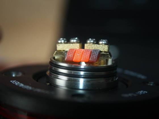 staggered Fussed 4 x 0,25mm V2A Spaced Clapton Seele o,2mm V2A Mantel Glühbild