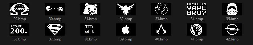 64x40 Pixel Logo Bmp
